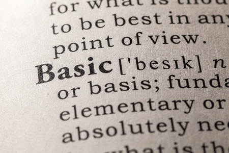 Fake Dictionary, Dictionary definition of the word basic