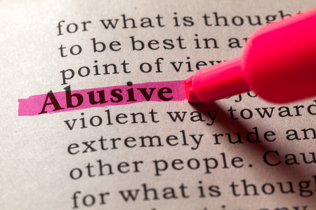 languages: Fake Dictionary, Dictionary definition of the word abusive