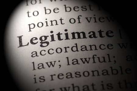 legitimate: Fake Dictionary, Dictionary definition of the word legitimate