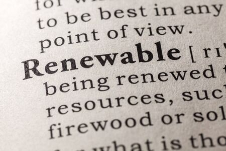dictionary definition: Fake Dictionary, Dictionary definition of the word renewable