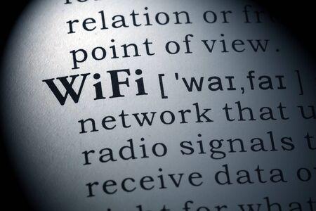 definición: Definición del diccionario de wifi. Foto de archivo