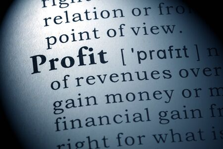 Dictionary definition of the word profit.