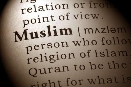dictionary definition: Dictionary definition of the word Muslim.