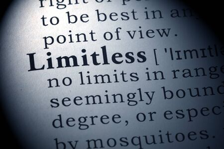 dictionary definition: Dictionary definition of the word Limitless.
