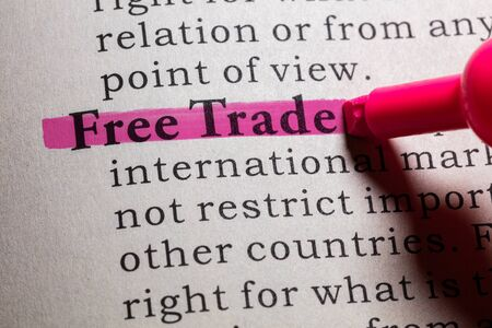dictionary definition: Dictionary definition of free trade.