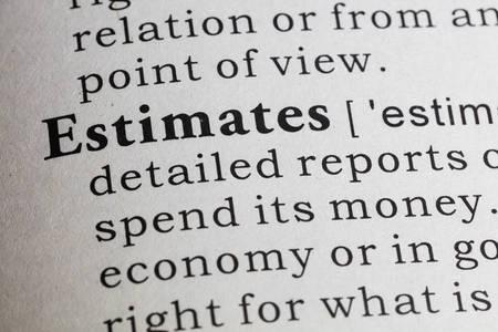 definicion: Definici�n del diccionario de la palabra estimaciones.