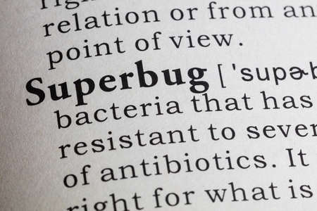 Dictionary definition of the word superbug.