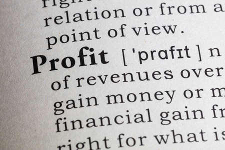 dictionary definition: Dictionary definition of the word profit.