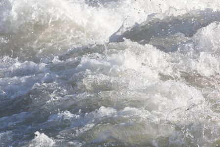 riffle: white water texture for background Stock Photo