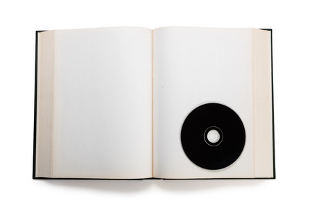 open book and compact disc Stock Photo