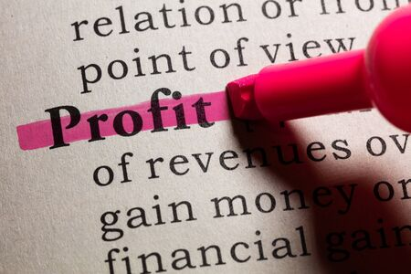 dictionary: Dictionary definition of the word profit.