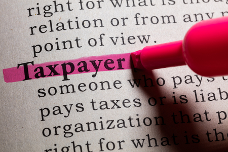 taxpayer: Dictionary definition of the word taxpayer.