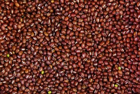 adzuki bean: red beans background texture. Stock Photo