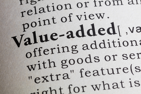 Dictionary definition of value-added.