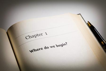 empezar: capítulo uno, ¿dónde comenzamos escrito en el libro