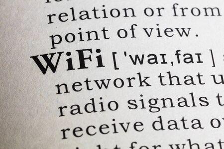 definicion: Definici�n del diccionario de wifi. Foto de archivo