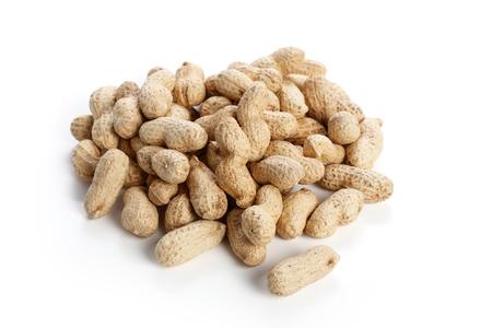 ingredient: dry peanuts, food ingredient with white background.