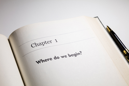 boek geschreven hoofdstuk één, Waar gaan we beginnen
