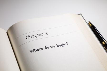 empezar: libro escrito el cap�tulo uno, �Por d�nde empezamos