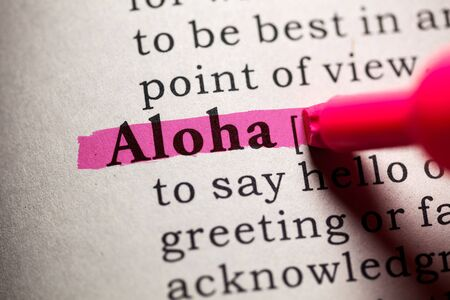 definitions: Fake Dictionary, Dictionary definition of the word aloha.