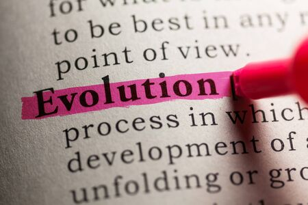 dictionary definition: Fake Dictionary, definition of the word evolution.