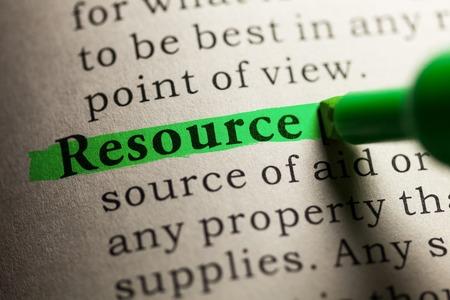 definicion: Falso diccionario, definición de la palabra de recursos.