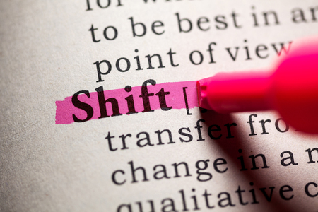 Fake Dictionary, Dictionary definition of the word shift.