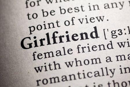 definicion: Diccionario falso, Definici�n del diccionario de la palabra novia.
