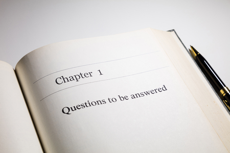 answered: fake book. chapter one, Questions to be answered