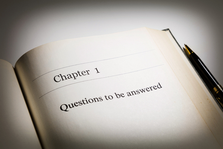 fake book. chapter one, Questions to be answered