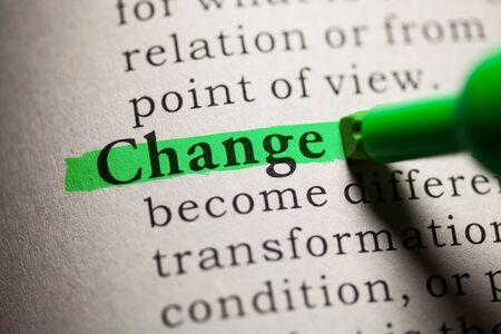definicion: Falso diccionario, definición de la palabra cambio.