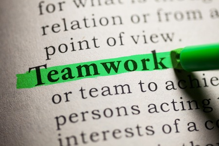 Fake Dictionary, definition of the word Teamwork. Reklamní fotografie