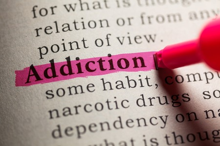 obsessive: Fake Dictionary, definition of the word Addiction.