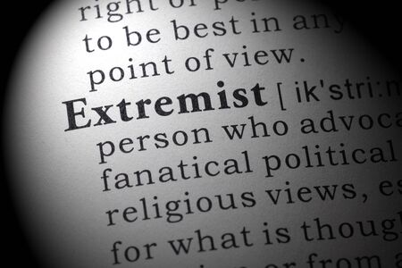 extremist: Fake Dictionary, Dictionary definition of the word Extremist.