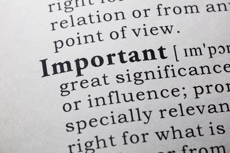 important: Fake Dictionary, Dictionary definition of the word important.