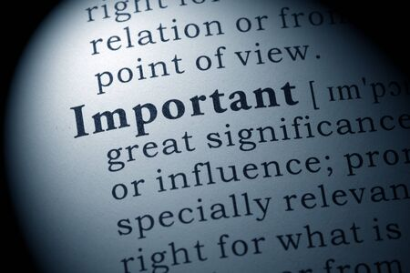 definitions: Fake Dictionary, Dictionary definition of the word important.