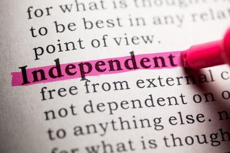 가짜 사전, 독립적 인 단어의 사전 정의입니다.