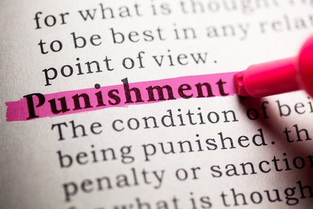Fake Dictionary, Dictionary definition of the word punishment. Reklamní fotografie