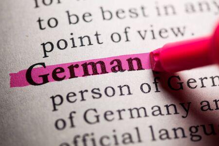가짜 사전, 독일어 단어의 사전 정의.