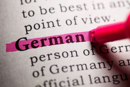Fake Dictionary, Dictionary definition of the word german.
