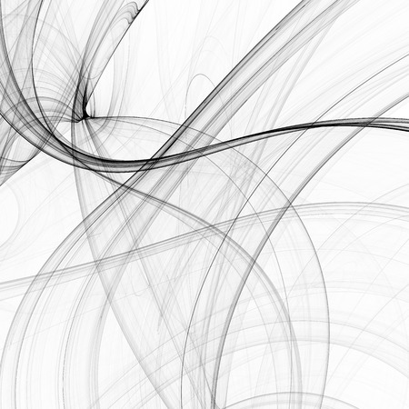 wavy lines: Abstract black and white fractal texture background, wavy lines.