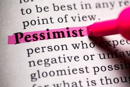 pessimist: Fake Dictionary, Dictionary definition of the word pessimist.