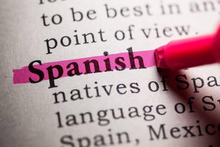 가짜 사전, 스페인어 단어의 사전 정의입니다.