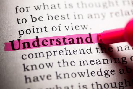가짜 사전, 단어의 사전 정의 이해.