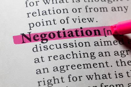 dictionary definition: Fake Dictionary, Dictionary definition of the word negotiation.