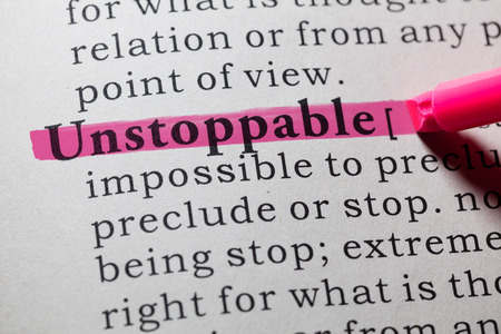 Fake Dictionary, Dictionary definition of the word unstoppable. Stok Fotoğraf - 62902398