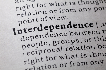 interdependence: Fake Dictionary, Dictionary definition of the word interdependence.