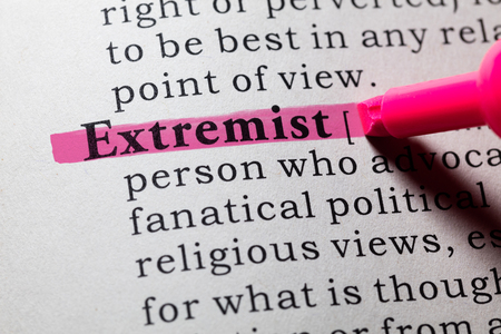 Fake Dictionary, Dictionary definition of the word Extremist.