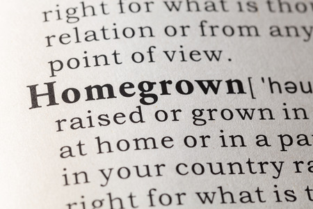 printing out: Fake Dictionary, Dictionary definition of the word homegrown.