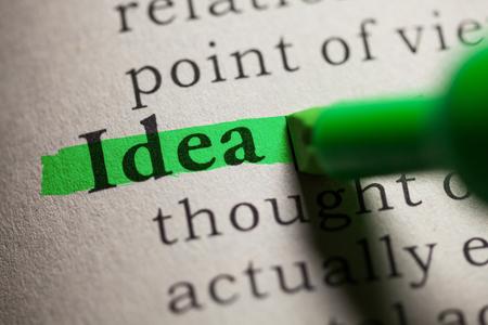 가짜 사전, 단어 아이디어의 정의.